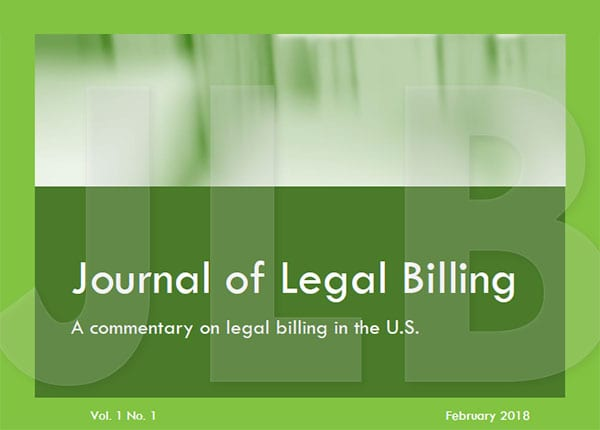 The Journal of Legal Billing