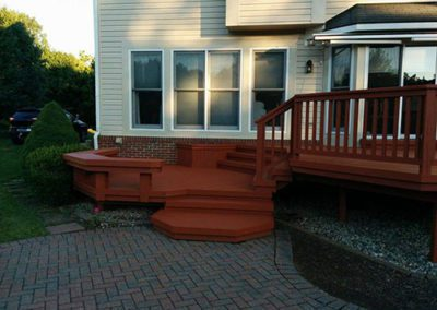 a newly painted deck