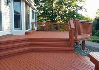 a painted deck