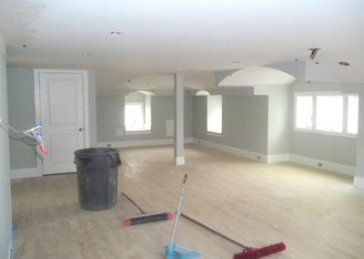 a freshly painted empty living space