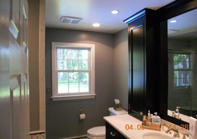 bathroom with new painted walls