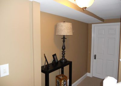 a front entry way with new paint