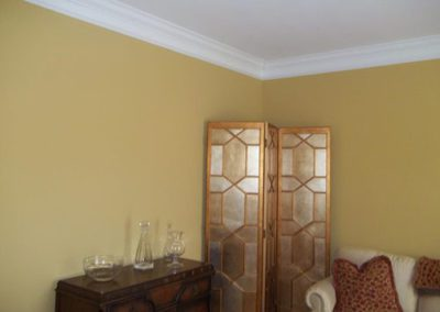a room with new paint