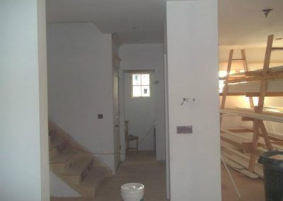 inside of a house in process of being painted