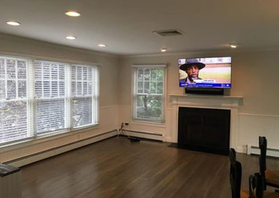 a livingroom with new paint