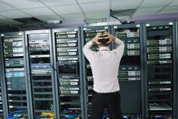 Man stressed about network